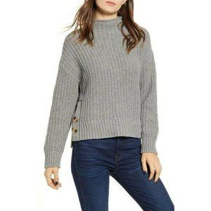 Madewell Mock Neck Side-Button Knit Sweater NWT